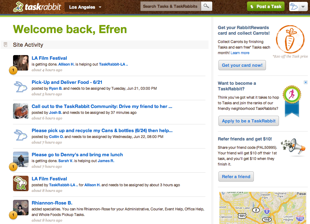 TaskRabbit Lets You Outsource Tasks To The Community
