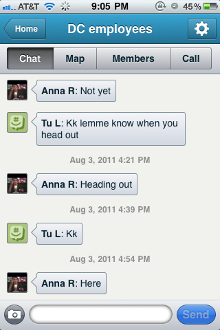 Groupme messaging app