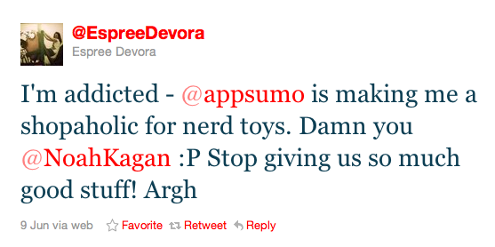 tweet about appsumo web applications