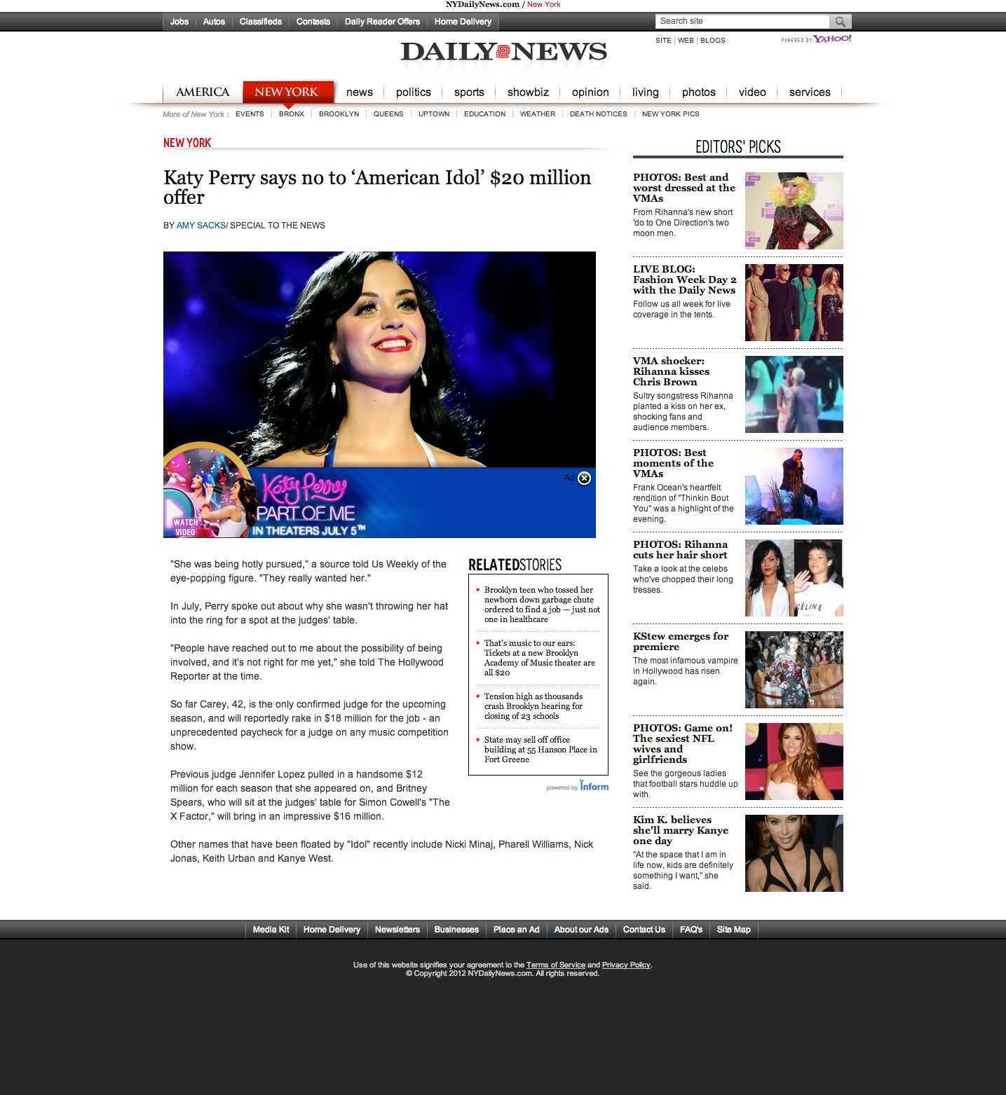 Katy Perry screen shot