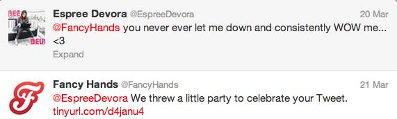 FancyHands tweet