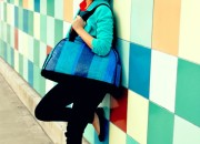 blue bag and wall