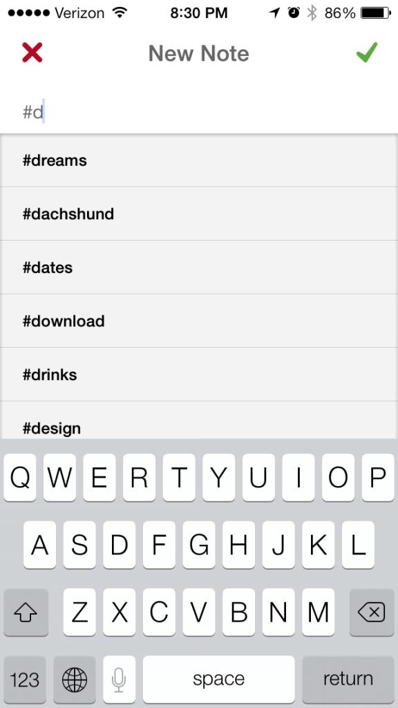4) Hashtag auto-complete