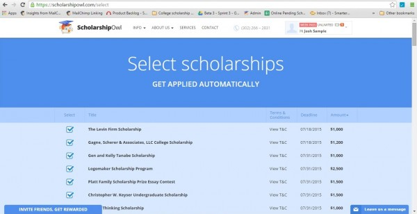ScholarshipList